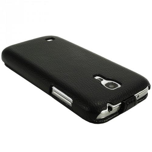 flip case ledertasche f r samsung galaxy s4 mini i9190. Black Bedroom Furniture Sets. Home Design Ideas