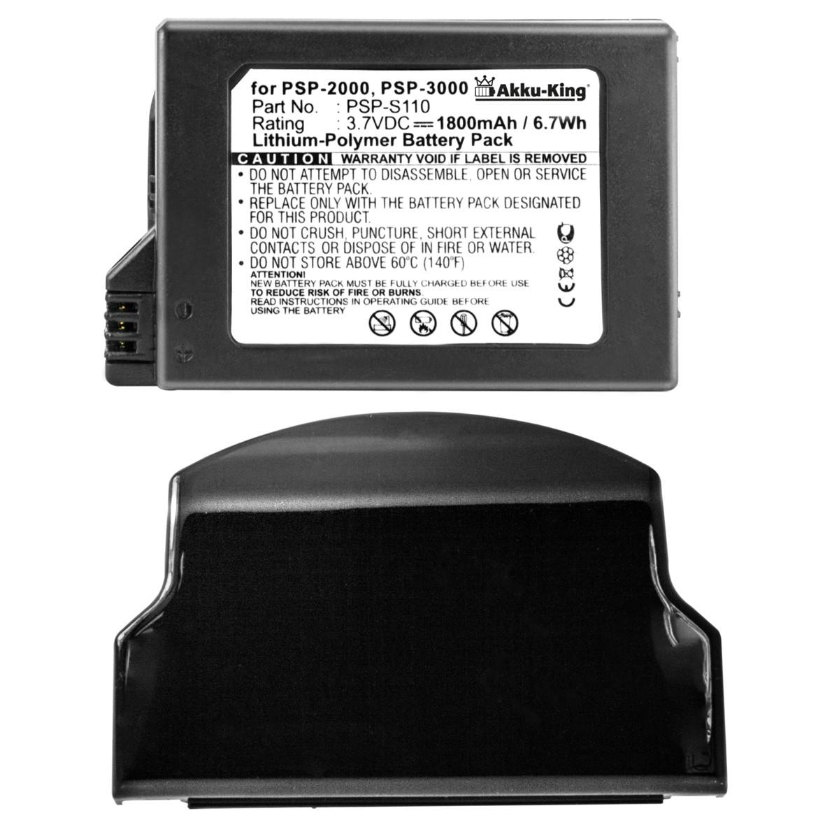 Akku King Akku F 252 R Sony Playstation Portable Lite Slim