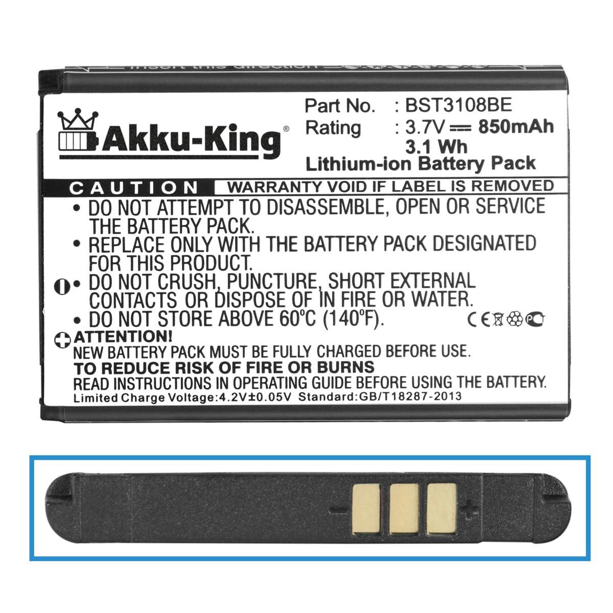 Akku für Samsung SGH-P900, P910, i320, B100, B2100, M110 - ersetzt AB043446BE - Li-Ion 850mAh