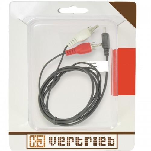 musik audiokabel micro usb zu cinch handy audio adapter. Black Bedroom Furniture Sets. Home Design Ideas