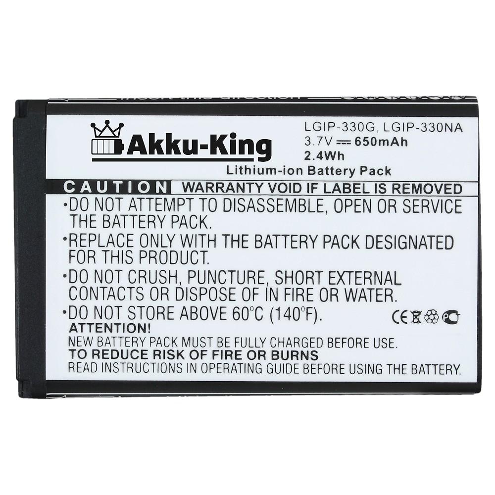 Akku-King Akku für LG GB220, GB230, GD330, GD350 - ersetzt LGIP-330NA, LGIP-330G - Li-Ion 1000mAh Bild 2